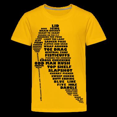 Language of Hockey (black print) Kids' Shirts