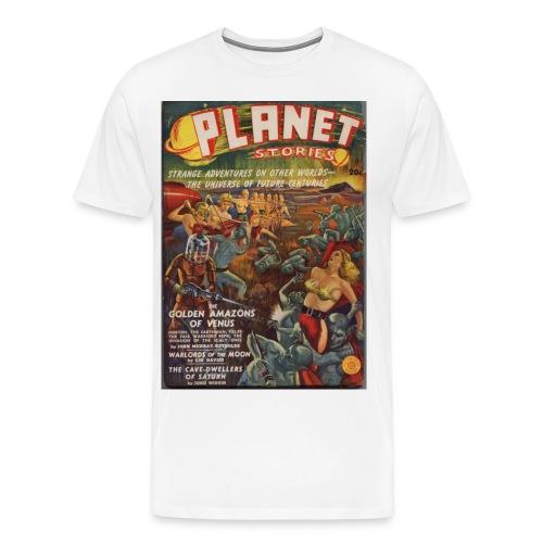3XL Planet SF Pulp 1st Issue Winter 1939 - Men's Premium T-Shirt