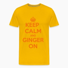 Keep Calm and Ginger On Gold T-Shirt