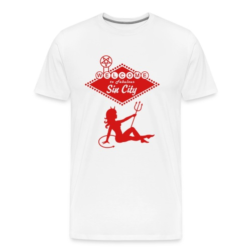 Sin City - Devil Mudflap Girl - Men's Premium T-Shirt