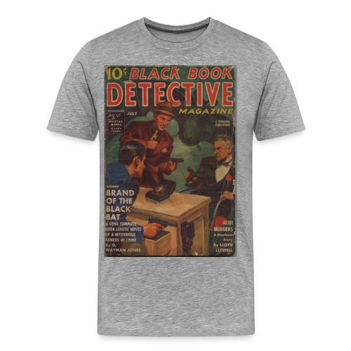3XL Black Book Detective 1st Black Bat - Men's Premium T-Shirt