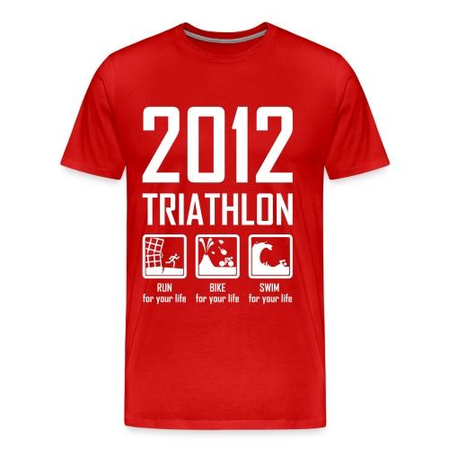 2012 Triathlon - Men's Premium T-Shirt