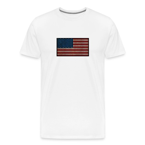 American Flag Diamond Plate - Men's Premium T-Shirt