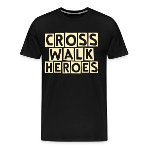 guys crosswalk heroes t shirt - Men's Premium T-Shirt