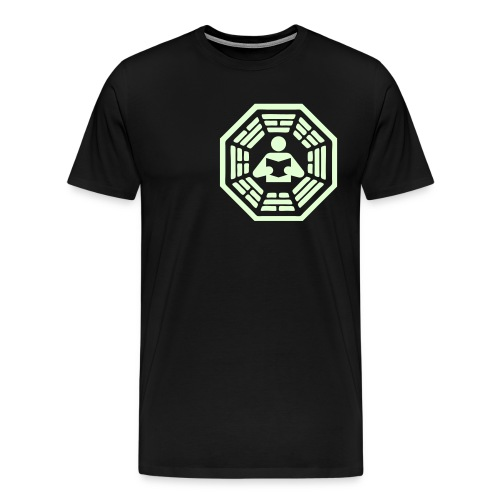 DHARMA Initiative Station: The Reader (Glow-In-The-Dark) 3X - Men's Premium T-Shirt