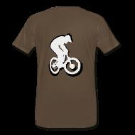 T-Shirts ~ Men's Premium T-Shirt ~ Mountainbike T shirt - Ride on! Colored Tee