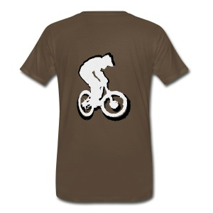 Mountainbike T shirt - Ride on! Colored Tee - Men's Premium T-Shirt