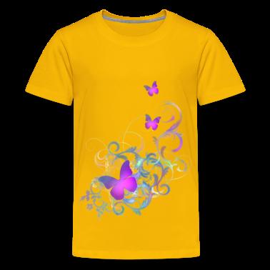 Bright purple butterflies t shirt spreadshirt id 9197883 for Bright purple t shirt