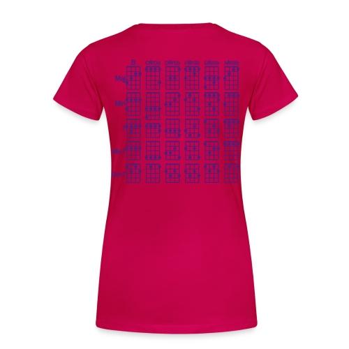 Ukulele Cheat Sheet Womens+ - Women's Premium T-Shirt