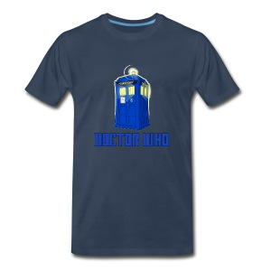TARDIS/Customizable Text - Men's Premium T-Shirt