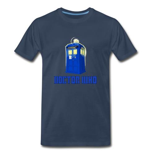 TARDIS/Customizable Text - Men's Premium T-Shirt
