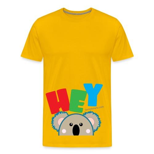 Hey! (Pocket Koala) - Men's Premium T-Shirt