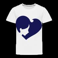 Baby & Toddler Shirts ~ Toddler Premium T-Shirt ~ Heart Face