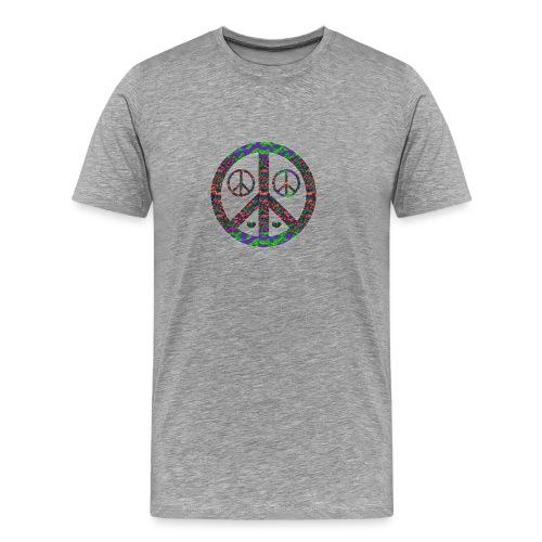 Multi Colored Peace 3x - Men's Premium T-Shirt