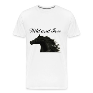 Wild and Free Horse Tee 3x - Men's Premium T-Shirt