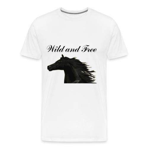 Wild and Free Horse Tee 3x - Men's Premium T-Shirt