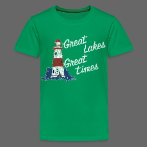 Vintage Great Lakes Great Time Lighthouse Style Children's T=Shirt - Kids' Premium T-Shirt