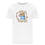 T-Shirts ~ Men's Premium T-Shirt ~ OMG Coffee Heavyweight Tee