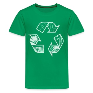 Green Recycling shirt - Kids' Premium T-Shirt
