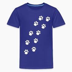 Cat Paw Track Kids' Shirts