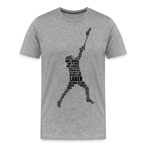 Lacrosse Player Calligram Men's Heavyweight T-Shirt - Men's Premium T-Shirt