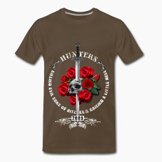 New Hunters Skull Dragon Sword T-Shirts