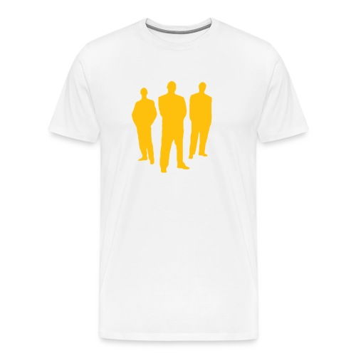 3 Gold Men White Shirt - Men's Premium T-Shirt