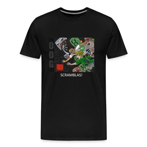 SCRAMBLAS! - Anime Black Heavy Weight - Men's Premium T-Shirt