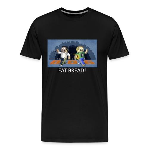 EAT BREAD! - Black Heavy Weight - Men's Premium T-Shirt