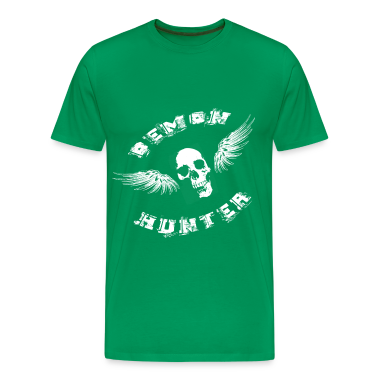 Demon Hunter Winged Skull White T-Shirts