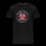 T-Shirts ~ Men's Premium T-Shirt ~ 1-UTLogo-MHvyWht-Full (Silver & Red)