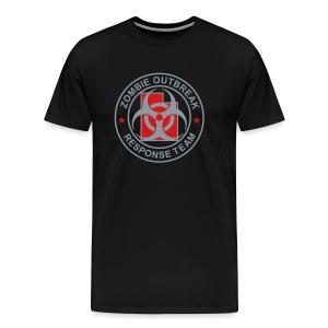 1-UTLogo-MHvyWht-Full (Silver & Red) - Men's Premium T-Shirt