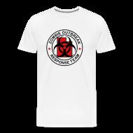 T-Shirts ~ Men's Premium T-Shirt ~ 1-UTLogo-MHvyWht-Full (Black & Red)