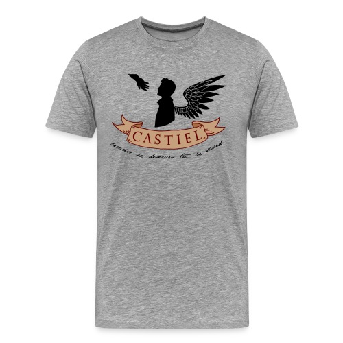 Because He Deserves To Be Saved (DESIGN BY MICHELLE) - Men's Premium T-Shirt