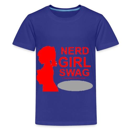 NERD GIRL SWAG - Kids' Premium T-Shirt