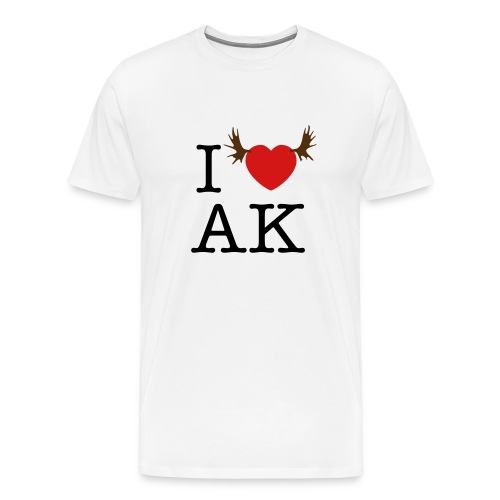 I HEART AK T-Shirt - Men's Premium T-Shirt