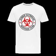 T-Shirts ~ Men's Premium T-Shirt ~ 1-ULogo-M3XL-Full (Black & Red)