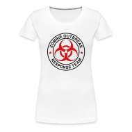 T-Shirts ~ Women's Premium T-Shirt ~ 1-ULogo-FPlus-Full (Black & Red)