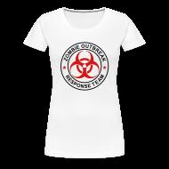 Women's T-Shirts ~ Women's Premium T-Shirt ~ 1-ULogo-FPlus-Full (Black & Red)
