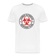T-Shirts ~ Men's Premium T-Shirt ~ 2-ULogo-MHvyWht-Full (Black & Red)