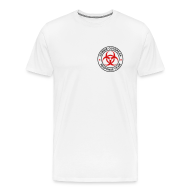 T-Shirts ~ Men's Premium T-Shirt ~ 2-ULogo-MHvyWht (Black & Red)