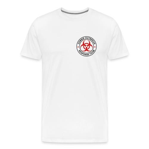 2-ULogo-MHvyWht (Black & Red) - Men's Premium T-Shirt
