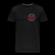 T-Shirts ~ Men's Premium T-Shirt ~ 2-ULogo-MHvyWht (Silver& Red)