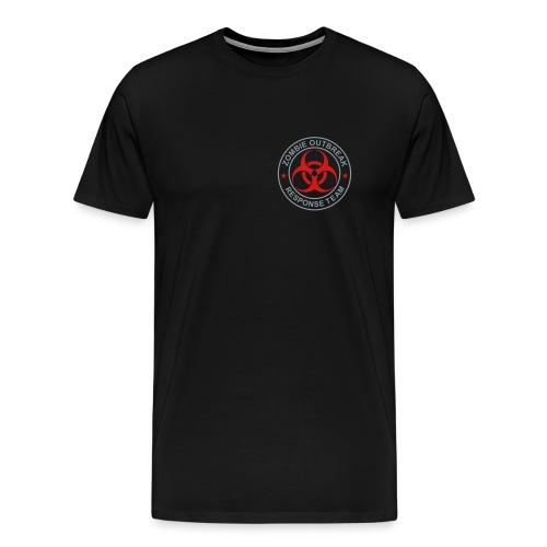 2-ULogo-MHvyWht (Silver& Red) - Men's Premium T-Shirt