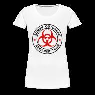 T-Shirts ~ Women's Premium T-Shirt ~ 2-ULogo-FPlus-Full (Black & Red)