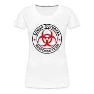 Women's T-Shirts ~ Women's Premium T-Shirt ~ 2-ULogo-FPlus-Full (Black & Red)