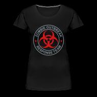 Women's T-Shirts ~ Women's Premium T-Shirt ~ 2-ULogo-FPlus-Full (Silver & Red)
