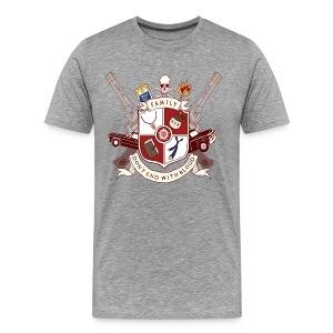 Family Don't End With Blood crest - Men's Premium T-Shirt