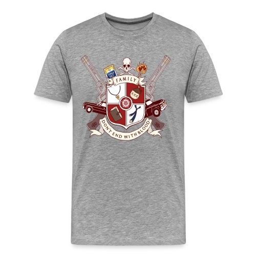 Family Don't End With Blood crest - Men's Premium T-Shirt