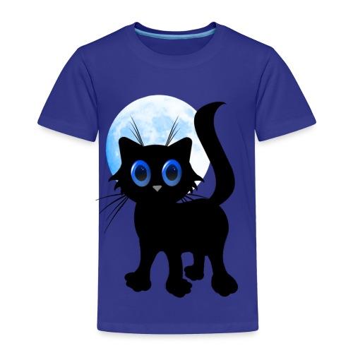 Black Halloween Kitten - Toddler Premium T-Shirt